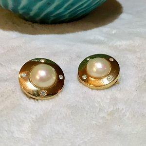 ❇️VTG Christian Dior Pearl Earrings